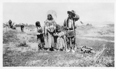 Portrait of a Ute Mountain Ute family