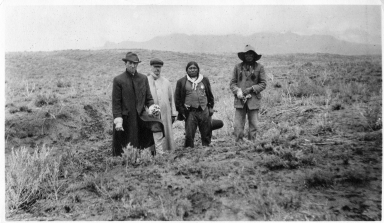 Portrait of Ute Mountain Ute and Anglo men