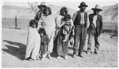 Portrait of Ute Indians