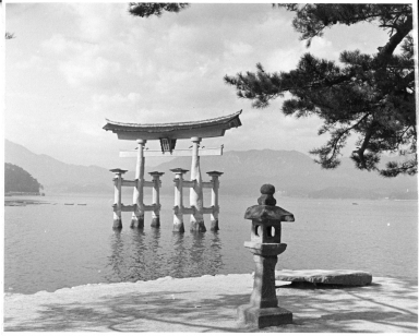 The Torii gate at Itsukushima Shrine