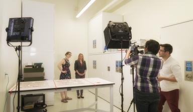 Filming The Brain Scoop web series at DMNS
