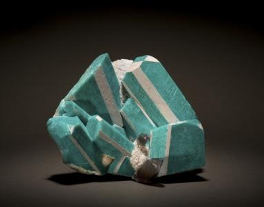 Amazonite with smoky quartz