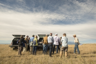 Denver Museum of Nature and Science Trustees at Corral Bluffs dig site