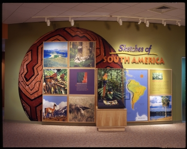 Entrance wall for South America exhibit
