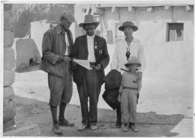 Governor of Acoma and Dodge Family c. 1924 5x6 b/w fiber based paper print scanned with Epson Expression 10000 XL at 1200 dpi 16-bit greyscale.