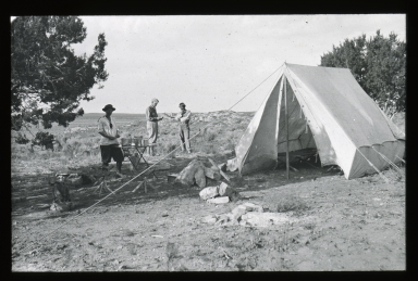 Dodge family at camp site