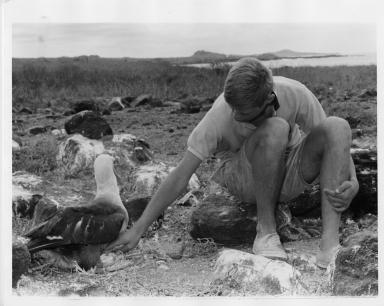 Jack Murphy with Albatross