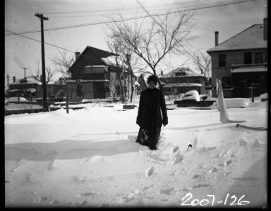Mrs. J. D Figgins in the Snow