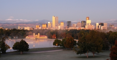 Denver Skyline in Early Morning