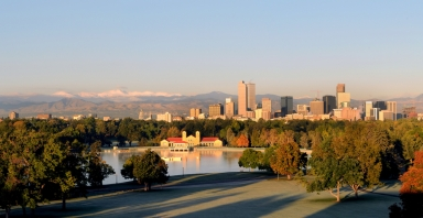 Denver Skyline in Fall