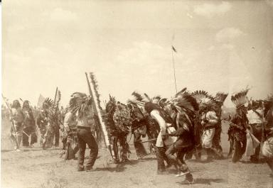 Omaha dance in native costume