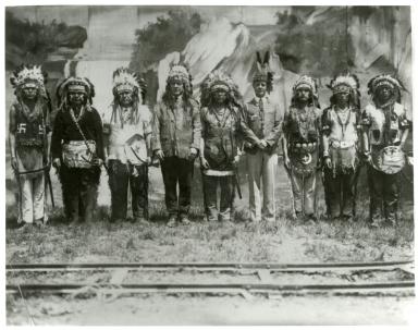 John P. Kuhns and Hopis at Hopi Adoption Ceremony