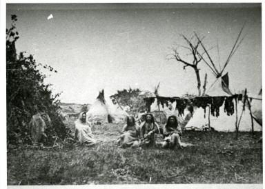 Plains Indian camp scene