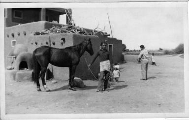 Man holding horse