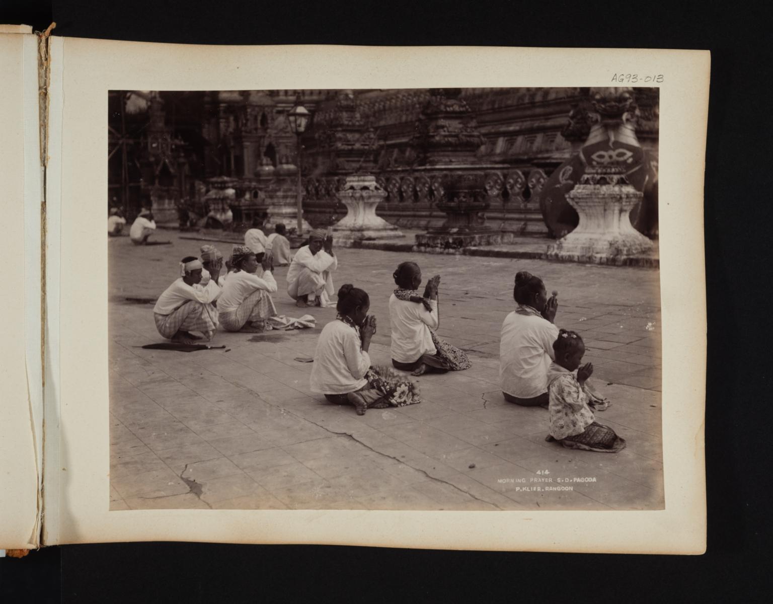 Morning prayer at the S. D. Pagoda.