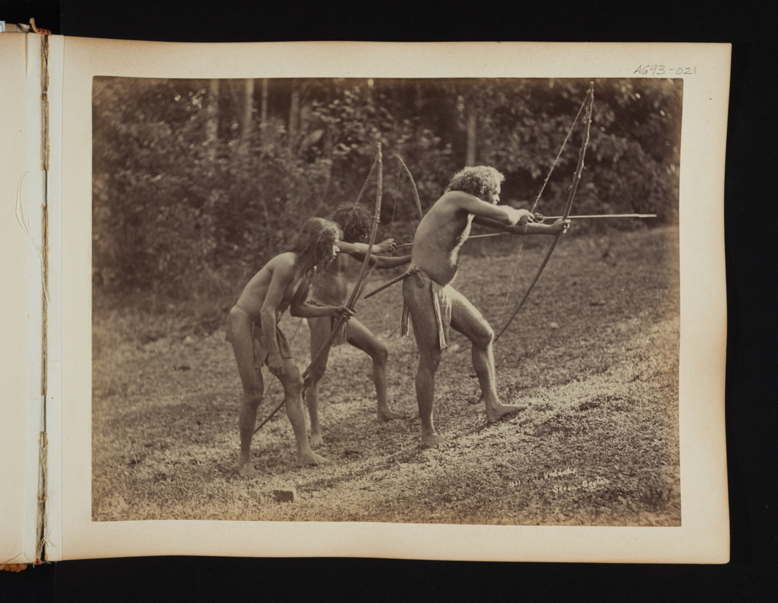 Veddahs, a native people in Sri Lanka.