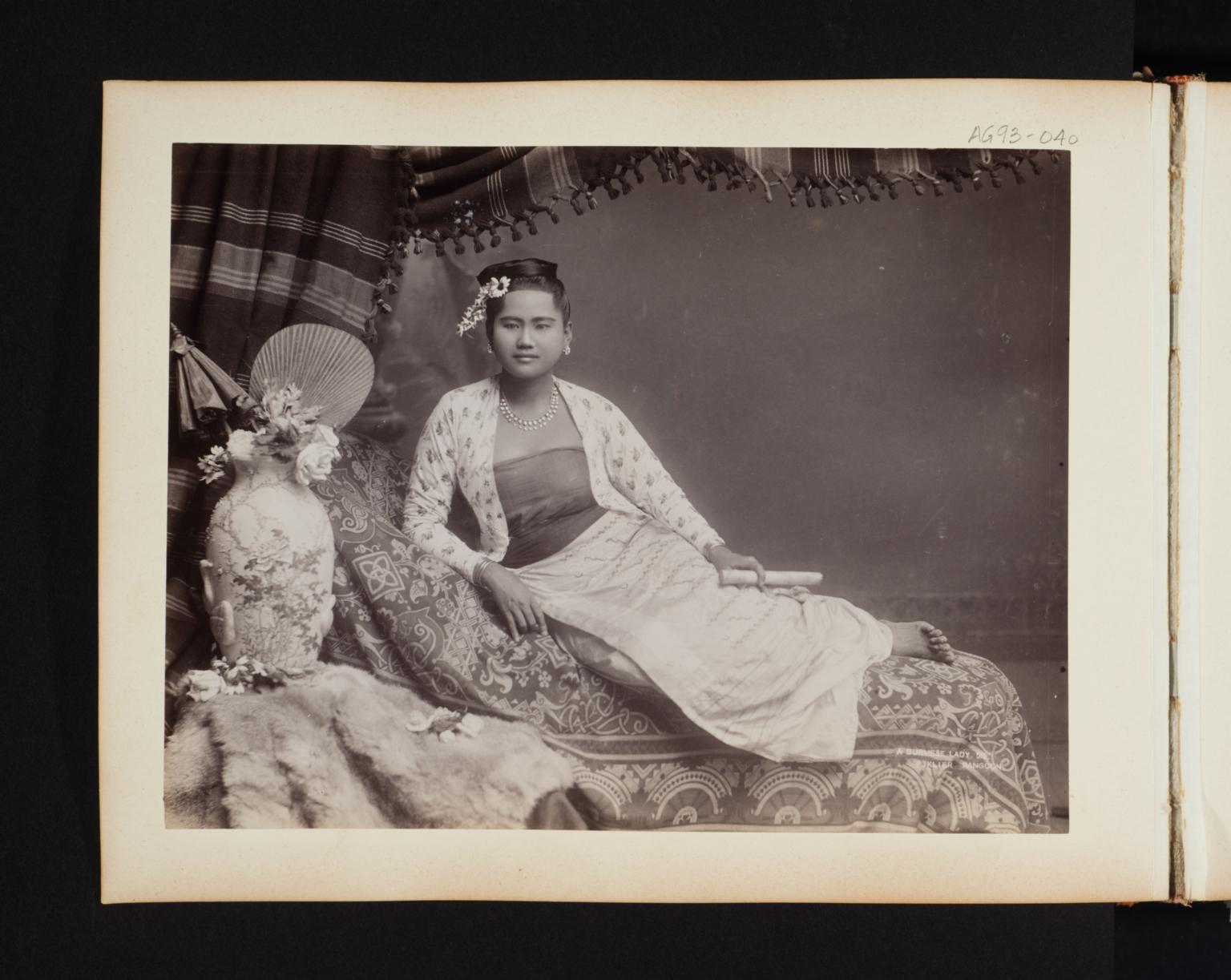 Portrait of a Burmese lady.