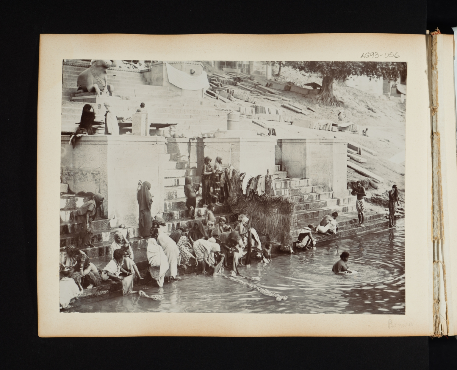 Bathing and Laundering in the Ganges River in India.