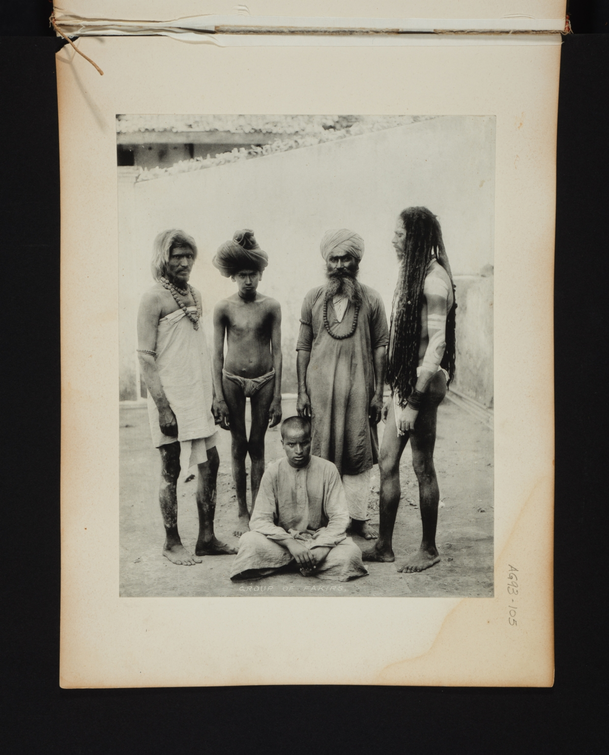 Group of Fakirs in India.