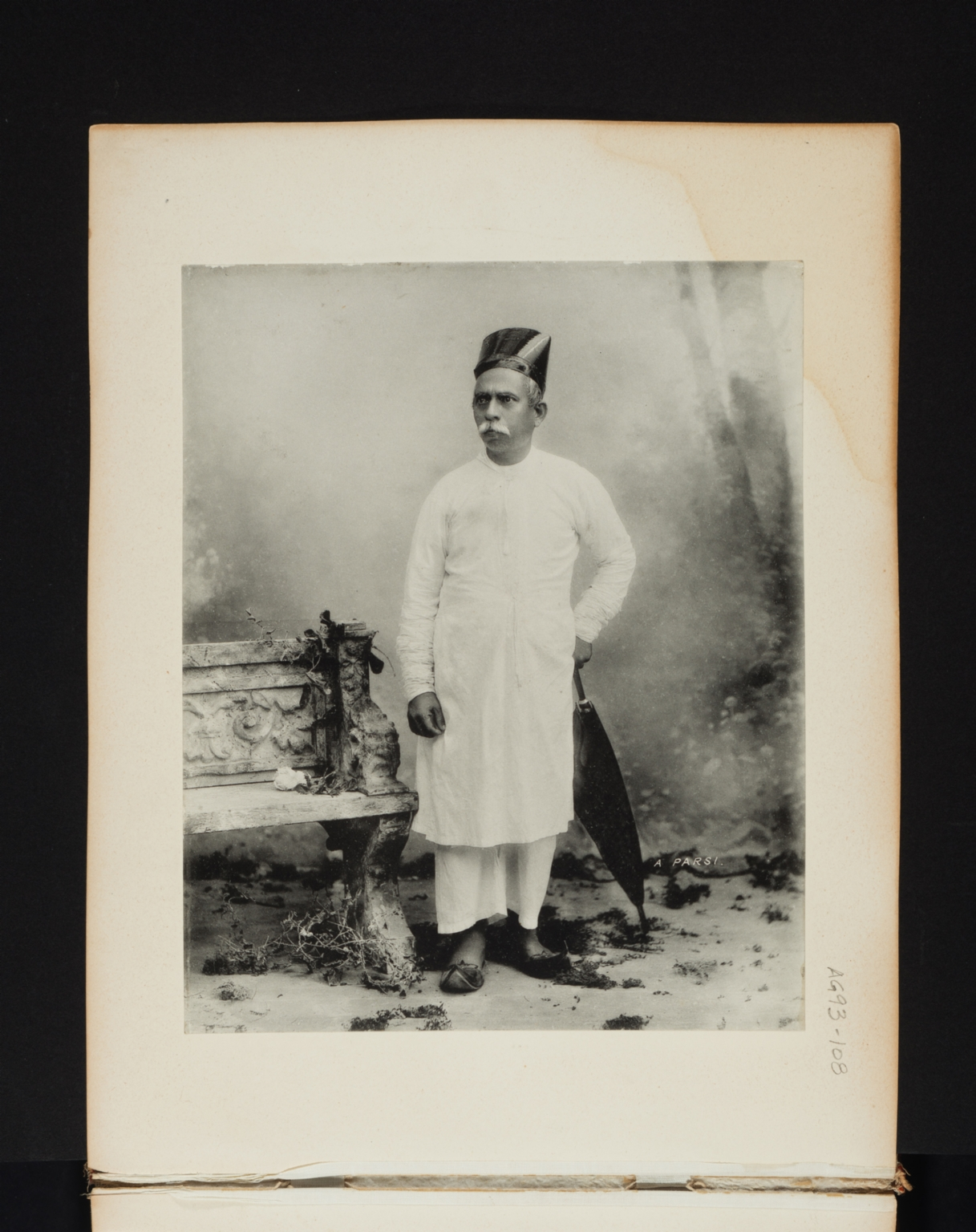 Portrait of a Parsi.