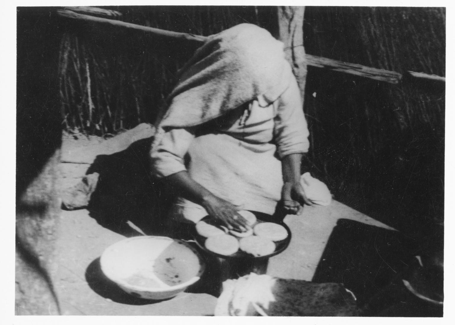 Unidentified Tohono O'odham Woman Cooking