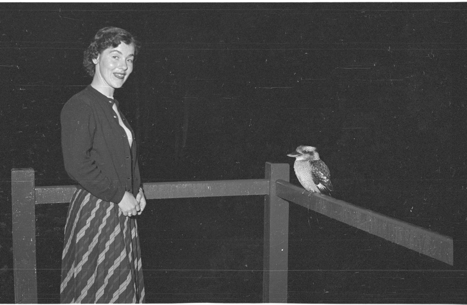 Patricia Bailey Witherspoon and a kookaburra