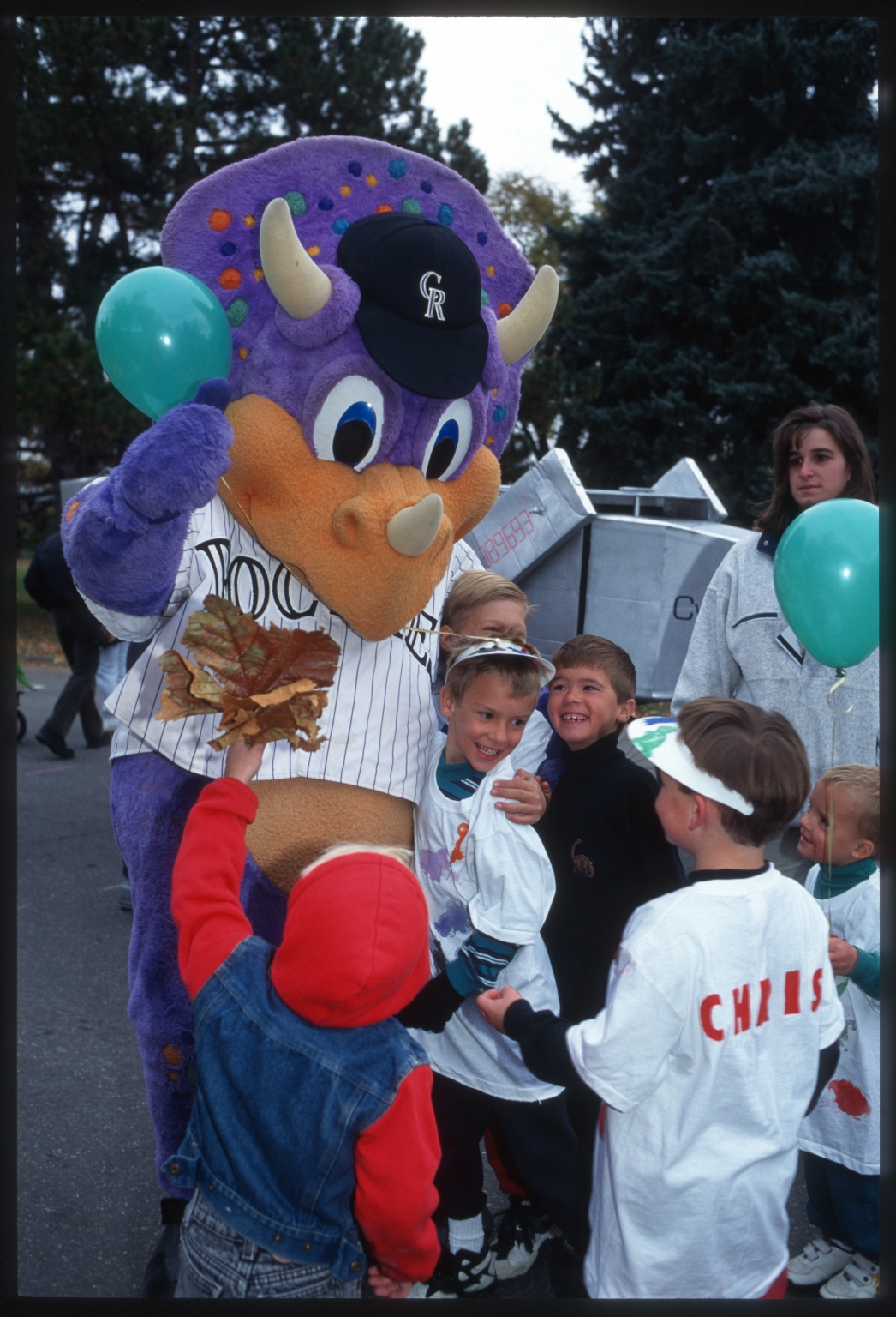 Dinger and guests at opening festivities for Prehistoric Journey Exhibit.