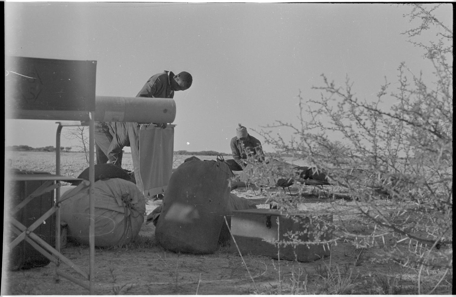 Camp site in Botswana