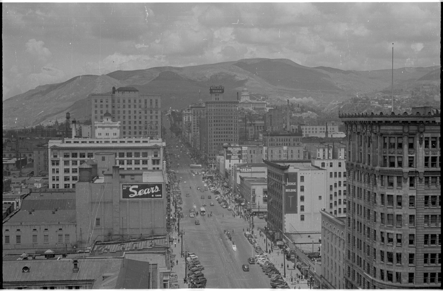 Skyline of Salt Lake City, Utah