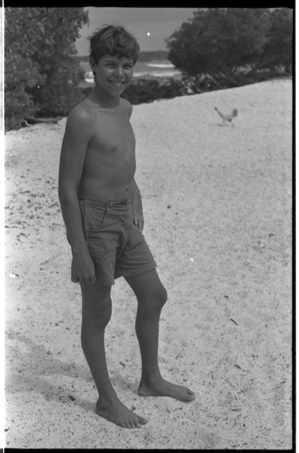 Boy in Galapagos Islands.