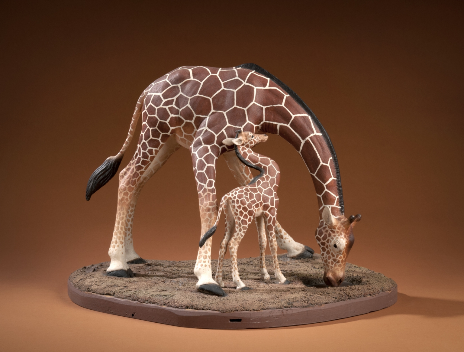 Female and young Giraffe