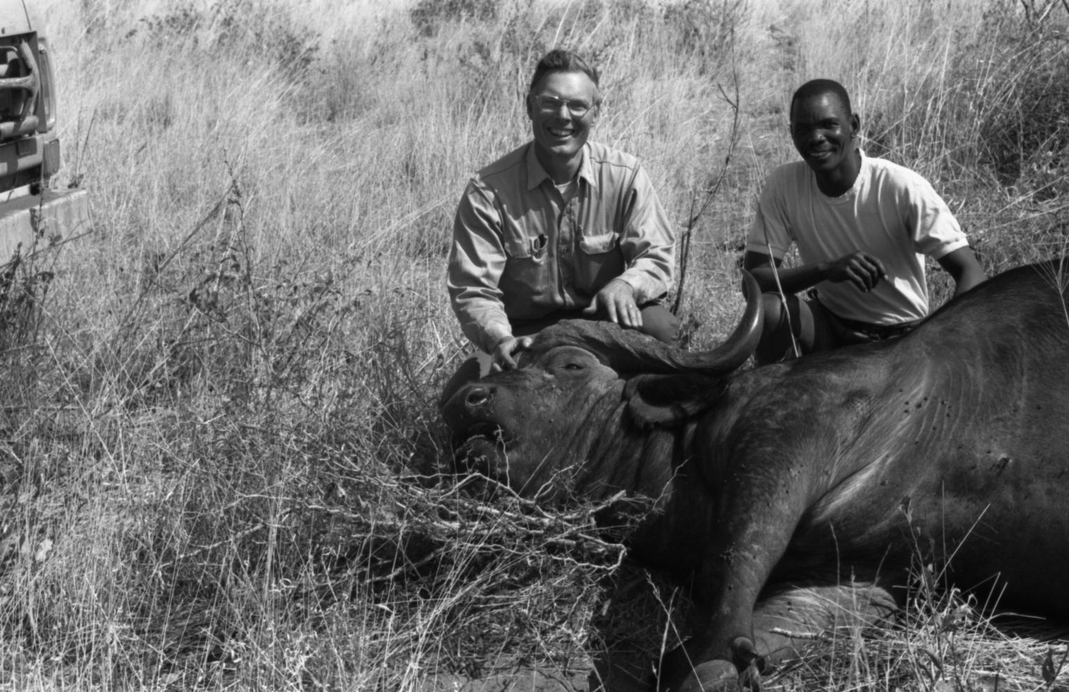 Jack Putnam with Water Buffalo