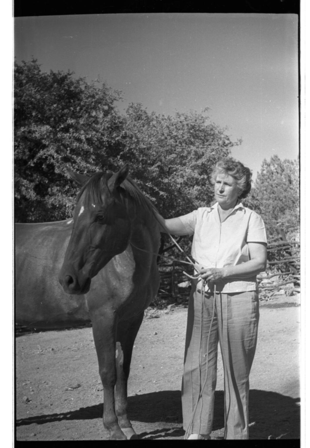 Ila Healy and Horse