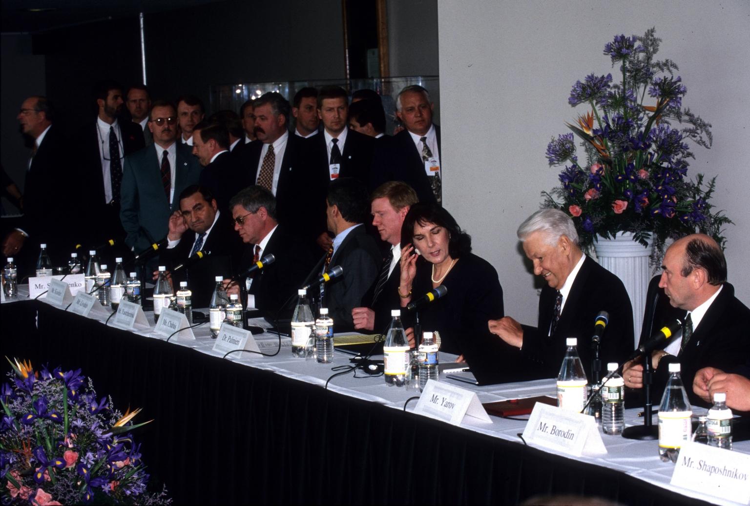 Boris Yeltsin's visit to the museum
