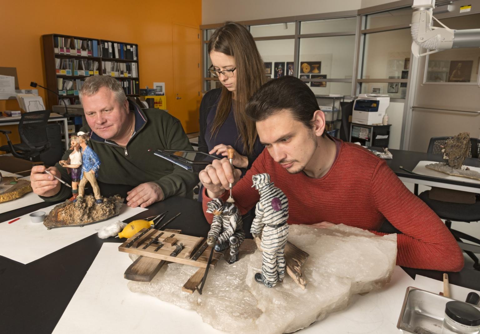 Conservation Work: Clean and Repair Konovalenko Gem Sculptures