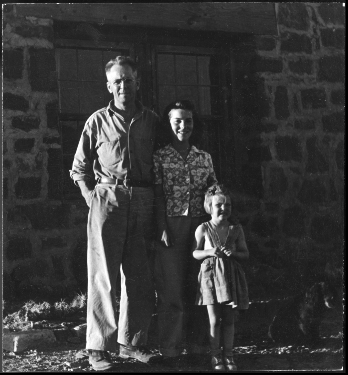 Alfred M. Bailey and Patricia Bailey Witherspoon with an unidentified girl