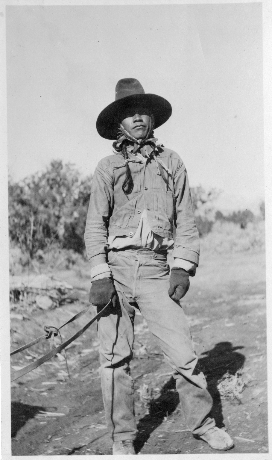 Portrait of a Ute Mountain Ute man