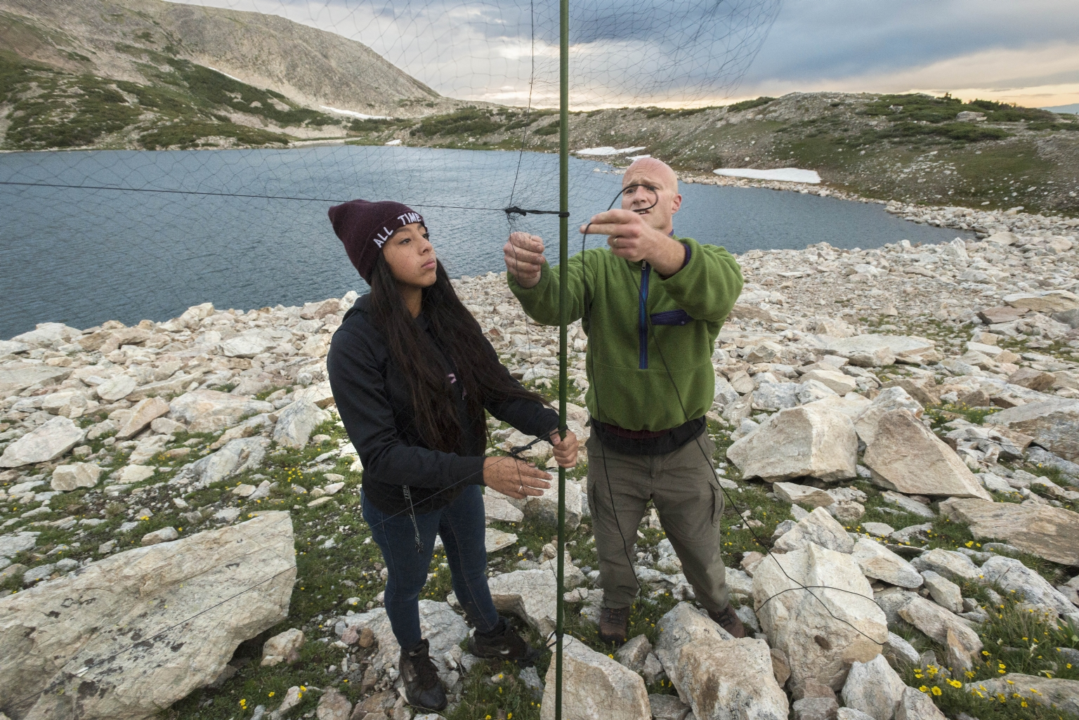 Ornithology fieldwork with Dr. Garth Spellman and Teen Science Scholars