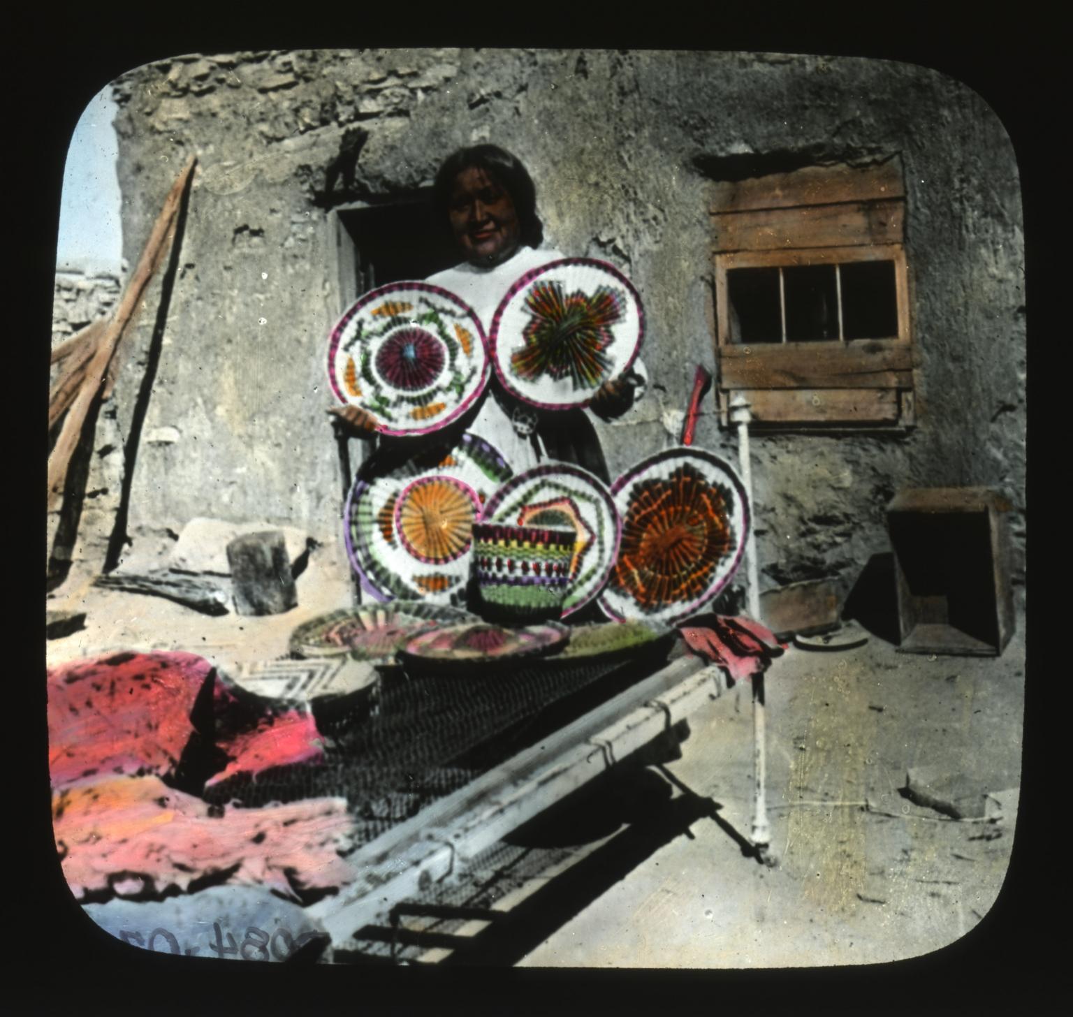 Basketmaker with baskets