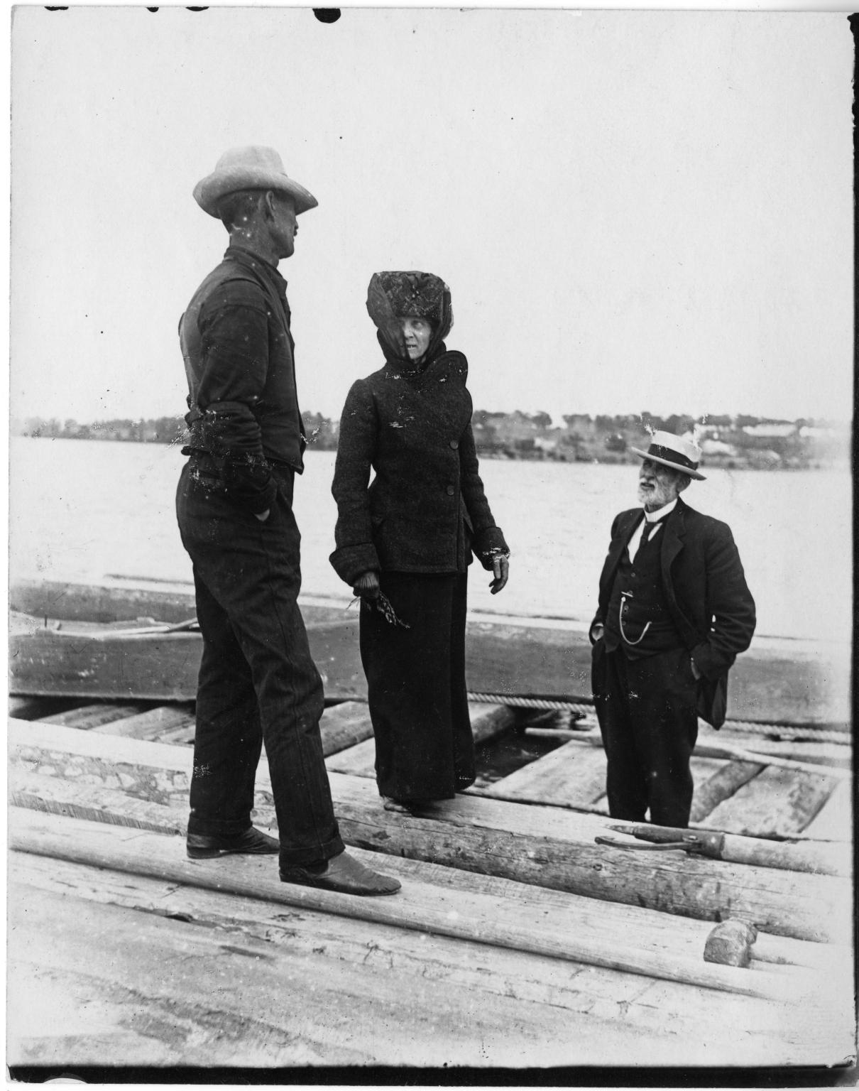 3 people on a raft