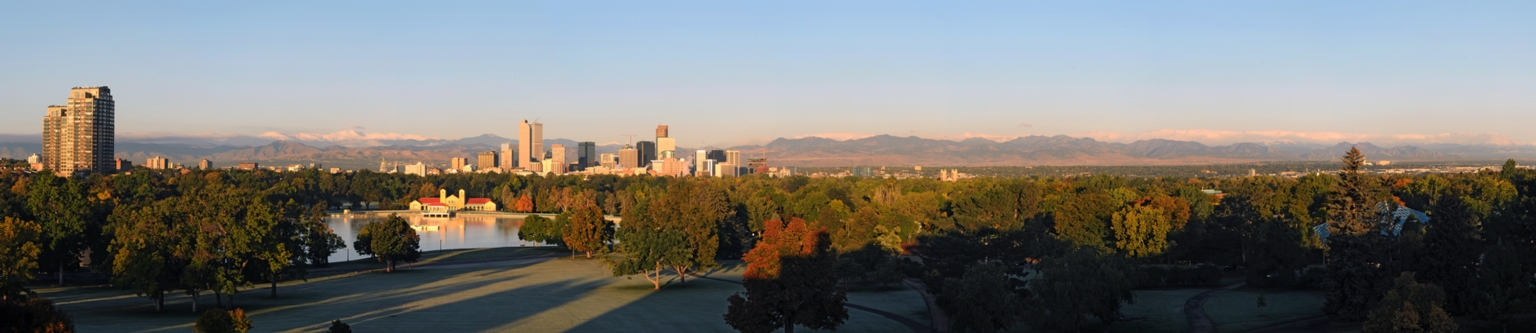 Panorama of Denver Skyline in Fall