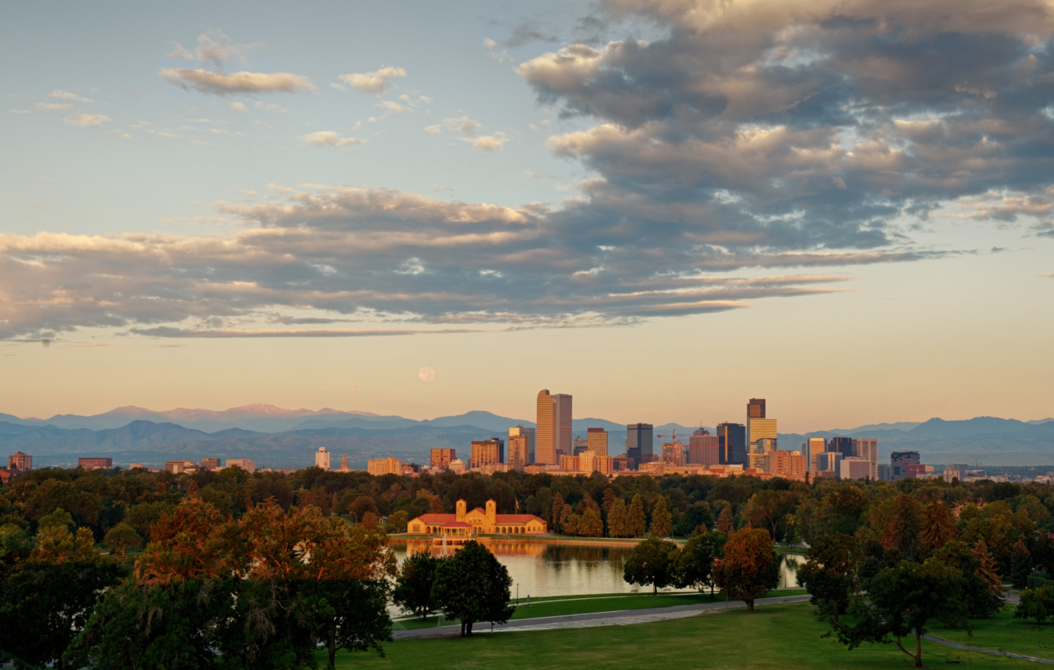 Denver Skyline in Summer