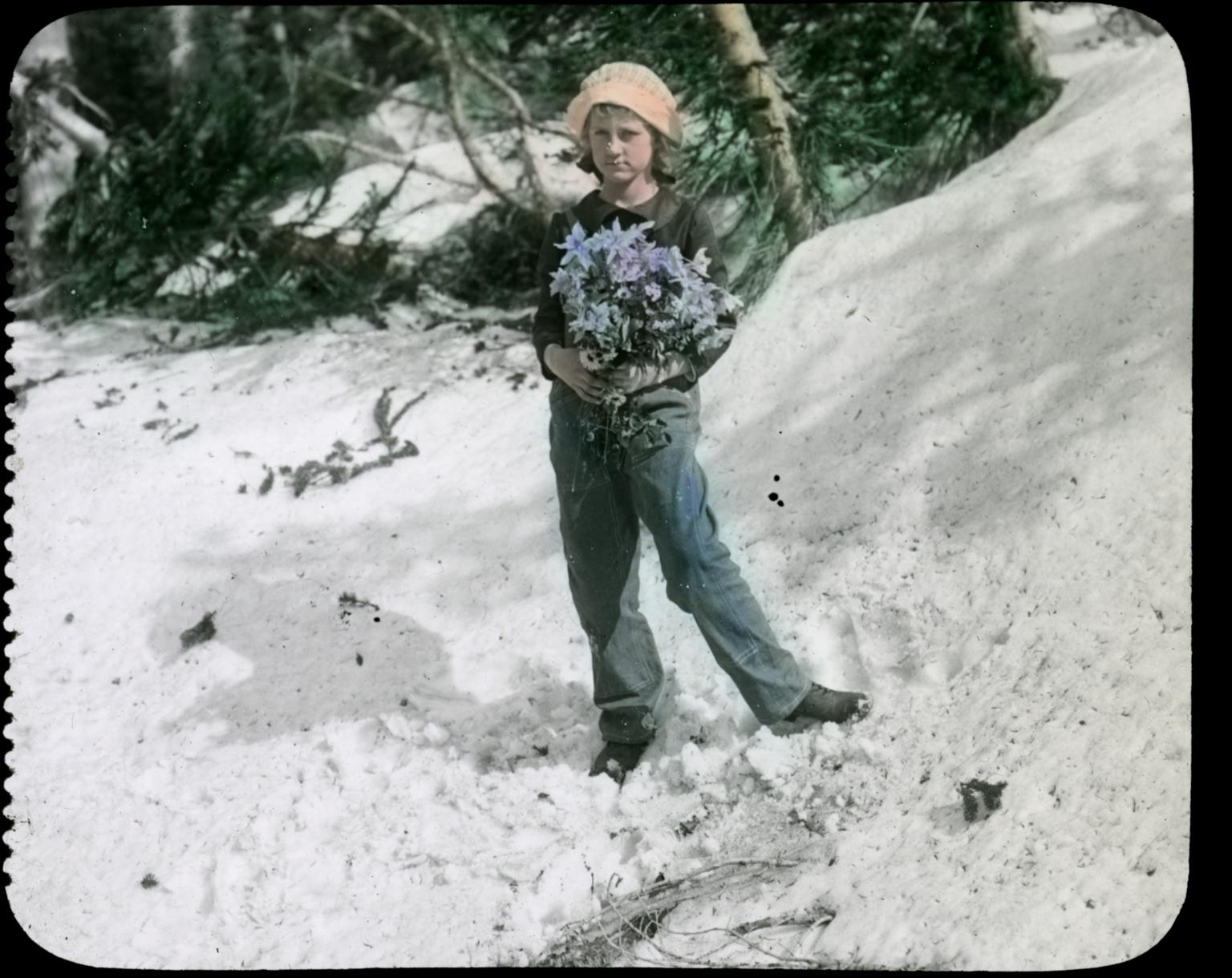 Barbara Figgins in the Snow