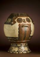 Polychrome ceramic jar