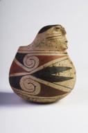 Ceramic effigy jar