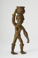 Bronze figurine of an African female