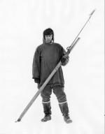 Jim Allen with Whaling Dart Gun