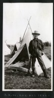 J. A. McGuire and his tepee.