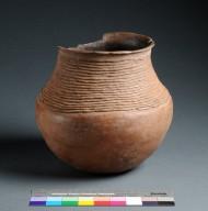 Ancestral Pueblo Clay Necked Jar