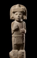 Carved Huastec stone statue